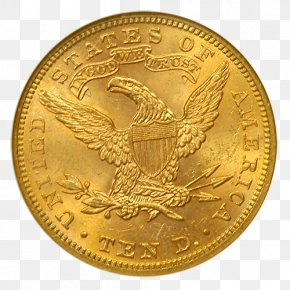 Coin - Gold Coin Gold Coin Double Eagle United States Twenty-dollar Bill PNG