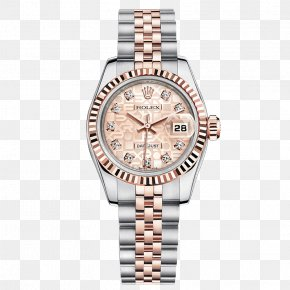 Pink Rolex Watch Watches Female Form - Rolex Datejust Rolex Submariner Rolex GMT Master II Rolex Daytona Watch PNG
