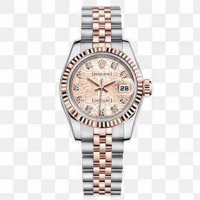 Pink Rolex Watch Watches Female Form - Rolex Datejust Rolex Submariner Rolex GMT Master II Rolex Daytona Watch PNG