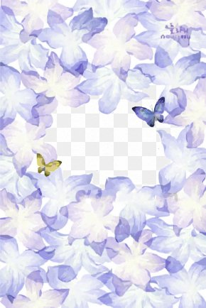 Butterfly Floral Background - Butterfly Watercolor Painting Drawing PNG
