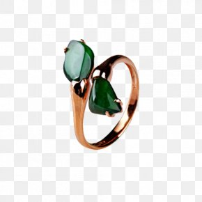 Colorful Charms Emerald Ring - Jewellery Ring Gold PNG
