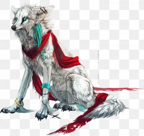 Hand-painted White Wolf - Dog DeviantArt Digital Art Drawing PNG