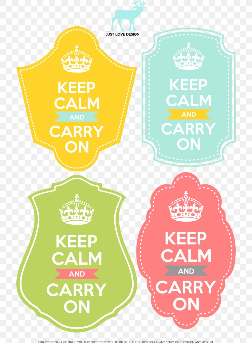 Keep Calm And Carry On T Shirt Poster