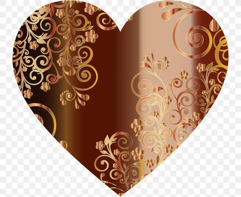 Heart Clip Art, PNG, 738x669px, Heart, Blood, Brown, Flower, Love Download Free