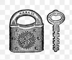 Old Lock - Padlock Key Clip Art PNG