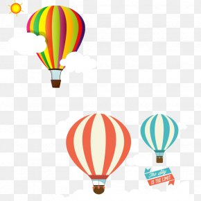 Hot Air Balloon Floating - Hot Air Balloon Clip Art PNG