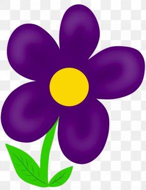 April Flowers Cliparts - Purple Pink Flowers Clip Art PNG