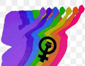 Icons And Colored Backgrounds For Women's Rights - Feminism LGBT Woman Feminist Theory KAOS GL PNG