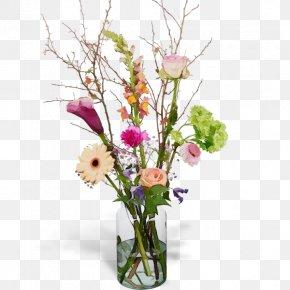 Vase Floral Design - Floral Design PNG