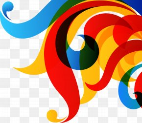 Colorful Stripes - Rainbow Color Clip Art PNG