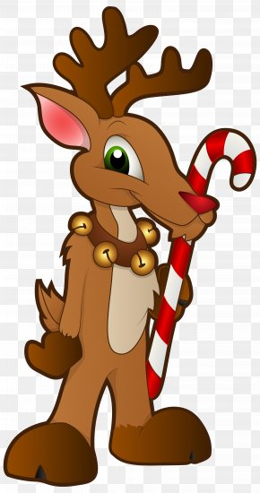 Christmas Reindeer PNG Clip Art Image - Rudolph Santa Claus's Reindeer Christmas Clip Art PNG