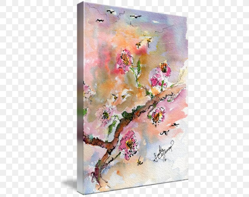 Watercolor Painting Floral Design Oil Paint, PNG, 430x650px, Watercolor Painting, Acrylic Paint, Art, Artwork, Blossom Download Free