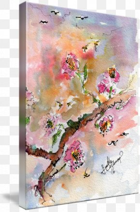 Ink Watercolor Painting - Watercolor Painting Floral Design Oil Paint PNG