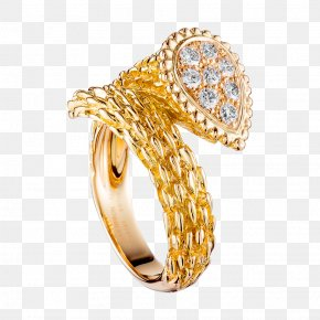 Gold Diamond Ring - Boucheron Jewellery Ring Colored Gold Diamond PNG
