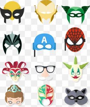 Iron Man Mask, Etc. - Iron Man Spider-Man Joker Mask PNG