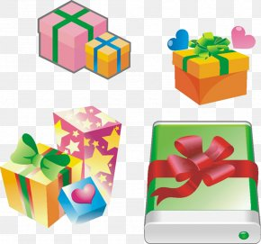 Mysterious Gift Box Vector Material - Gift Christmas Box PNG