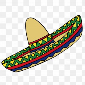 Cartoon Mexican Hat - Mexican Hat Mexico Clip Art PNG