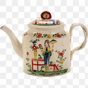 Chinoiserie - Teapot Porcelain Creamware Tableware Ceramic PNG