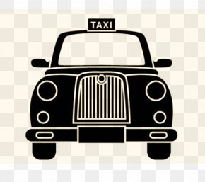 Retro Taxi - Share Taxi Checker Taxi Yellow Cab Transport PNG