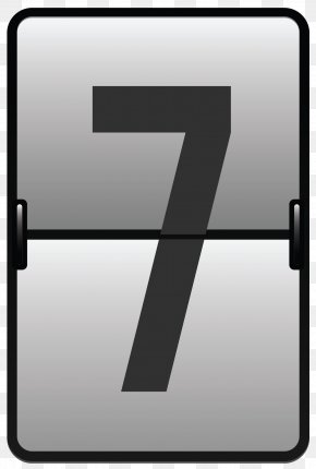 Counter Number Seven Clipart Image - Number Icon Clip Art PNG