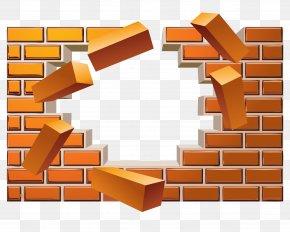 Vector Broken Brick Wall Effect - Brick Wall Euclidean Vector PNG