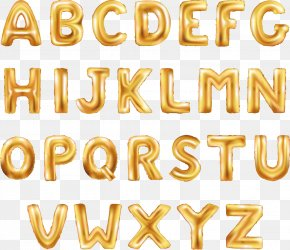 Golden Balloon Word Word - Balloon Letter Stock Photography Font PNG