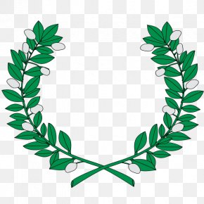 Twigs - National Coat Of Arms Laurel Wreath Wikimedia Commons PNG