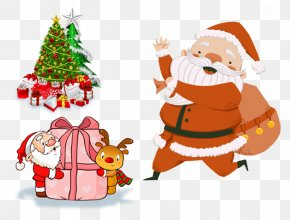 Santa Claus Christmas Gift Decoration - Santa Claus Christmas Decoration Christmas Gift Christmas Card PNG