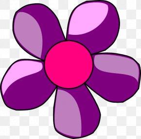 Violet Flower Cliparts - Flower Free Content Clip Art PNG