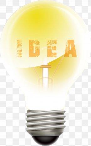 Golden Vector Material Bulb Ider - Incandescent Light Bulb Euclidean Vector PNG