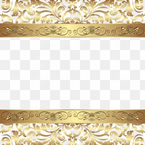 Gold Silk Edge Material Download - Gold Icon PNG