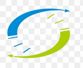 Relatively Green Circle Blue Arrow - Line Angle Point Blue PNG