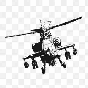 Helicopter - Helicopter Boeing AH-64 Apache Clip Art PNG