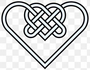 Double Hearts Pictures - Celtic Knot Heart Celts Clip Art PNG