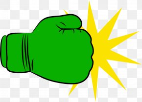 Boxing Gloves - Green Boxing Glove Clip Art PNG