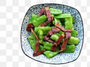 Free Ham Fried Pea Pods Pull Material - Edamame Ham Vegetarian Cuisine Food Vegetable PNG