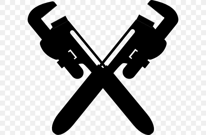 Plumbing Pipe Wrench Clip Art, PNG, 600x537px, Plumbing, Black And White, Central Heating, Drain, Hvac Download Free
