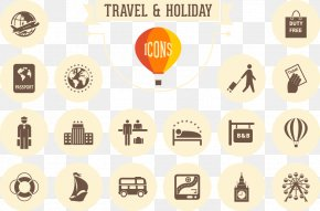 Vector Vacation Icon - Retro World Vacation Tourism Icon PNG
