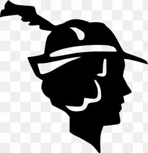 M Logo Silhouette Headgear - Clip Art Black & White PNG