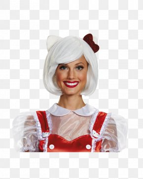 Halloween - Hello Kitty Wig Adult Costume Clothing Accessories PNG