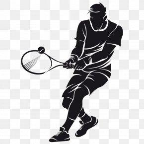 Tennis Player - Wall Decal Tennis Sticker Vinyl Group PNG
