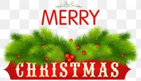 Merry Christmas Decorative Clipart Image - Christmas Clip Art PNG