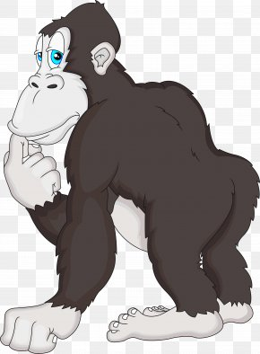 Gorilla - Gorilla Drawing Clip Art PNG