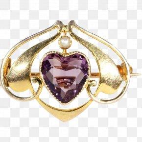 Cobochon Jewelry - Jewellery Amethyst Charms & Pendants Brooch Ruby Lane PNG