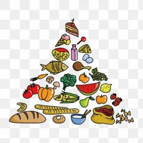 Vector Fruits And Vegetables - Food Pyramid Clip Art PNG