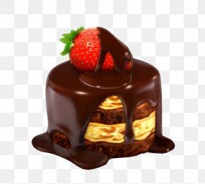 Strawberry Cake - Cupcake Icing Dessert PNG
