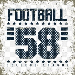 Football Alphabet Poster - T-shirt Graphic Design Illustration PNG