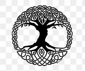 Black Tree Of Life Tattoo - Tree Of Life Steel Tongue Drum Witchcraft Celtic Sacred Trees PNG