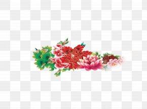 Peony - Moutan Peony Floral Emblem PNG