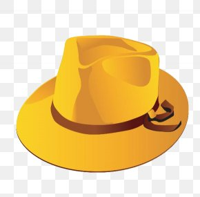 Hat - Hat Fedora Cowboy Yellow PNG